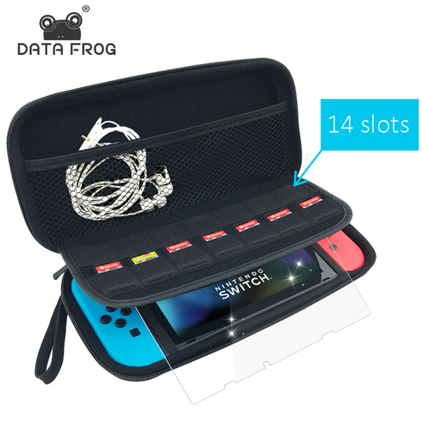 Data Frog Protective Hard Carry Case For Nintend Switch Travel Anti Shock Storage Bag For Nintendo Switch Game Accessories-Justt Click