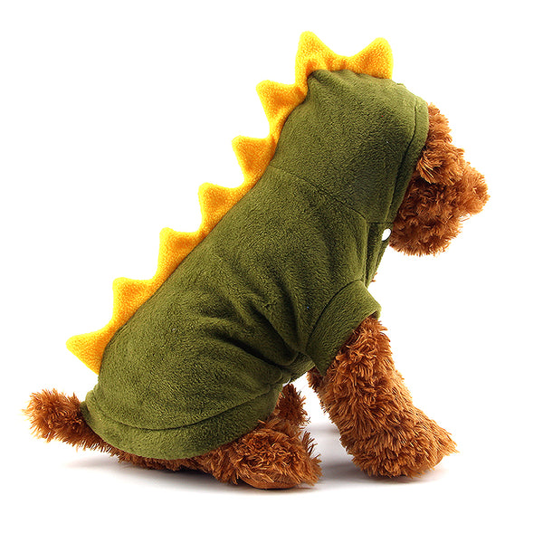 Dinosaur Dog clothes Pet Halloween Costume XS S M L XL Pet Dogs Green Coat Outfits Large - Justt Click