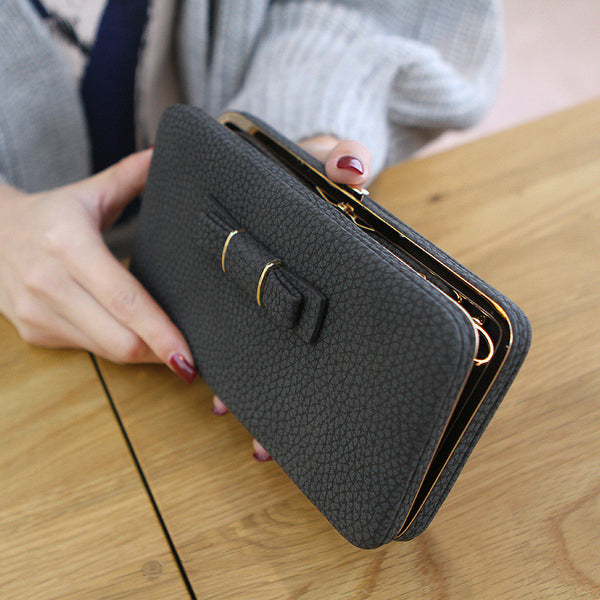 sports shoes f1462 cad01 New Style Leather Women's Wallet Credit Card Holder Cell Phone Pocket