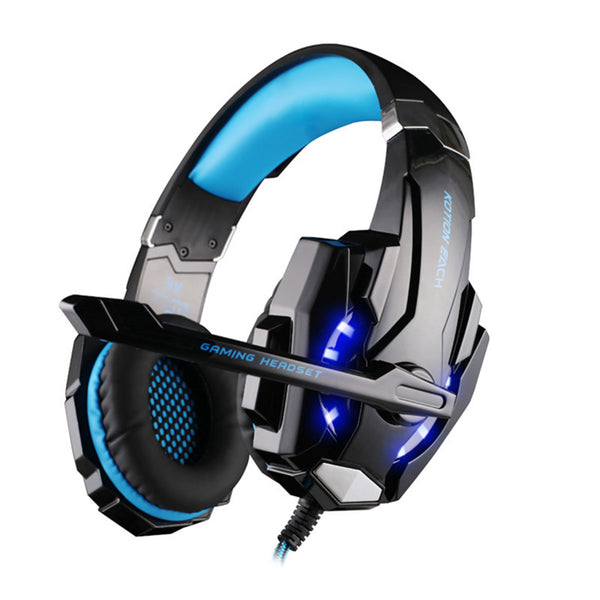 EACH G9000 Over-Ear 3.5mm Gaming Headset Headband Game Headphones & Earphones With Microphone LED Light For PC Laptop / PS4-Justt Click