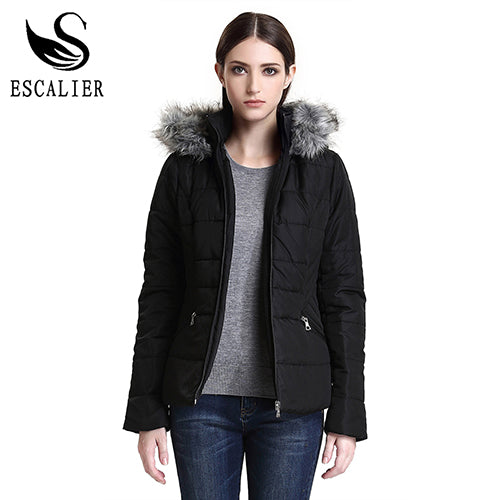 New Winter Down Parkas Women Fashion Coat Solid Color Cotton Casual Winter fur Parker Free Shipping-Justt Click