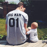 Family Matching Outfits Father And Son Clothes Black T Shirt Summer Tops Short Sleeve - Justt Click
