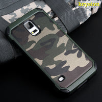 Fashion Camo Phone Case For Samsung Galaxy S5 Hybrid Plastic and TPU Hard Cover - Justt Click