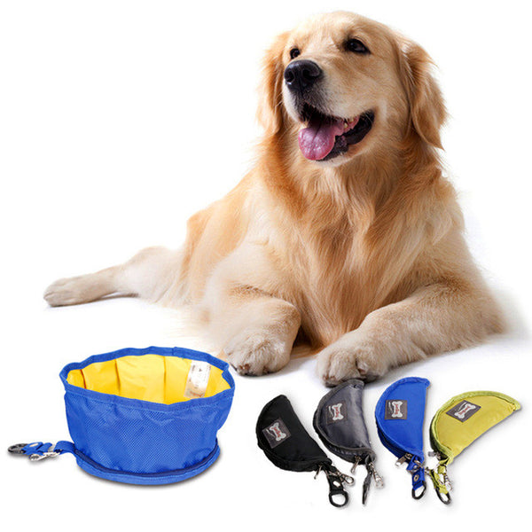 Portable Foldable Waterproof Dog Bowls Dogs Travel Bowls Used for Hiking/outdoor/camping/park-Justt Click