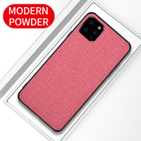 For Apple iphone 11 Case Luxury Skin Soft Silicone edge fabric back cover protective case for iPhone 11 Pro Max iphone11 11Pro-Justt Click