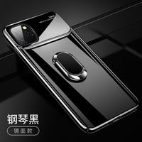 For IPhone 11 Pro Max Case 6.5 Inch 2019 Xr Xs Luxury Full-Body Hard Pc+tempered Glass Bumper Case With Magnet Car Ring Holder-Justt Click