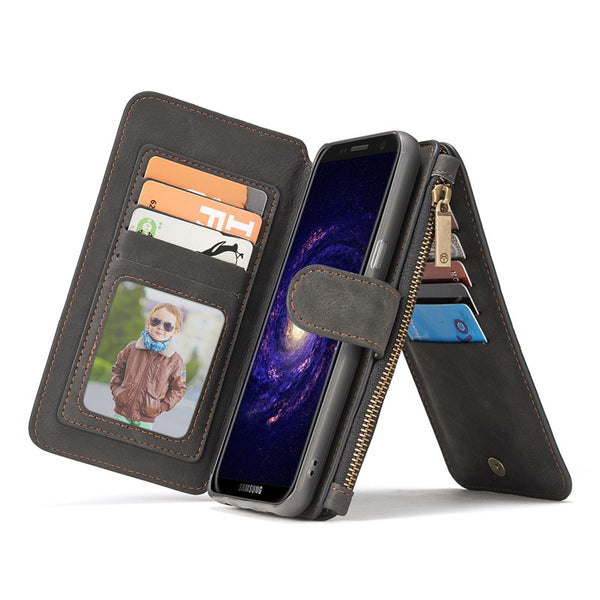 For Samsung Galaxy S8 Case Wallet S8 plus Magnetic Back Cover 2in1-Justt Click