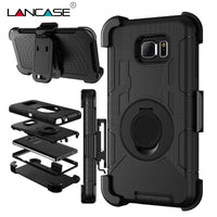 For Samsung S7 Case Silicone 3 in 1 Military Belt Clip Stand Case For Samsung Galaxy S7 Edge S6 S5 Note 5 Shockproof Phone Cases-Justt Click