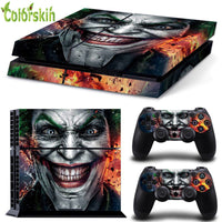 For playstation 4 decal for ps4 skin PVC vinyl sticker for ps4 console and dualshock 4 the Joker VS Batman sticker for ps4 games-Justt Click