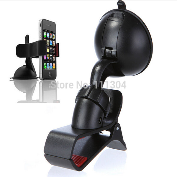 Windshield 360 Degree Rotating Car Sucker Mount Bracket Holder Stand Universal for Phone GPS Tablet PC Accessories-Justt Click