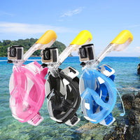 Full Face Snorkeling Mask Scuba Watersport Anti-fog Anti-Leak Seaview 180°-Justt Click