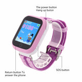 GPS tracker smart baby watch Q100 Wifi touch screen sim card SOS Call Location Device for Kids-Justt Click