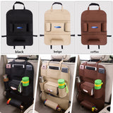 1pc New Pu Leahter Multi-functional Anti-Child-Kick pad Car Auto Seat Back Protector Cover-Justt Click