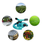 Garden Sprinklers Water Durable Rotary Three Arm Water Sprinkler 360 Degree Automatic Rotating Water Sprinkler System-Justt Click