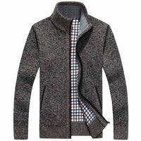 Men Sweater Casual Style Stand Collar Cotton Material Thin Wool Warm Thick Autumn Winter-Justt Click