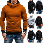 2017 Hoodie Oblique Zipper Solid Color Hoodies Men Fashion Tracksuit Male Sweatshirt Hoody Mens Purpose Tour XXL-Justt Click