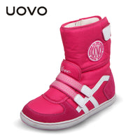 HOT UOVO Brand Kids Shoes Winter Boots For Girls And Boys Fashion Snow Baby Shoes-Justt Click