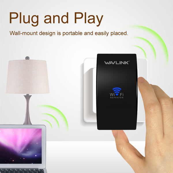 N300 Compact Size Wireless Wifi Repeater Signal Amplifier 802.11n b Extender Router Wi fi Repeater EU US Plug with WPS-Justt Click