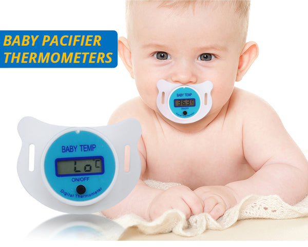 Baby Nipple Thermometer Medical Silicone Pacifier LCD Digital Children's Thermometer Health Safety Care Thermometer For Children-Justt Click