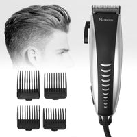 Professional Electric Hair Clipper Men Kids Rechargeable Hair Trimmer Attachment Combs Barber Beard Hair Cutting Clipper-Justt Click