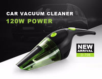 PUPPYOO Powerful Portable Connect wih Car Mini Handheld Vacuum Cleaner Light Dust Collector DC 12V 120W Green Catcher D-708-Justt Click