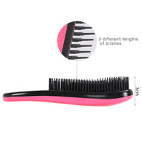 Fashion Magic Detangling Handle Shower Anti-Static Hair Brush Comb Salon Styling Tamer Tool Black /Rose Red Women-Justt Click