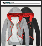 Fashion Brand Hoodies Men Casual wear Man Hoody Zipper Long-sleeved sweatshirt men Slim Fit hoodie 18.5-Justt Click