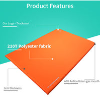 2 Person Automatic Inflatable Outdoor Camping Mat Air Mattress Self-Inflating Pad Folding Tent Bed-Justt Click