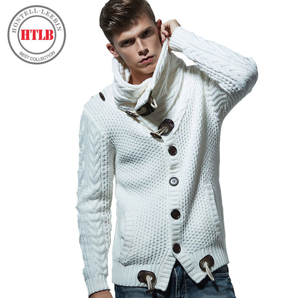 New Autumn Winter Fashion Brand Casual Cardigan Sweater Loose Fit Acrylic Warm Knitting Men Clothes-Justt Click