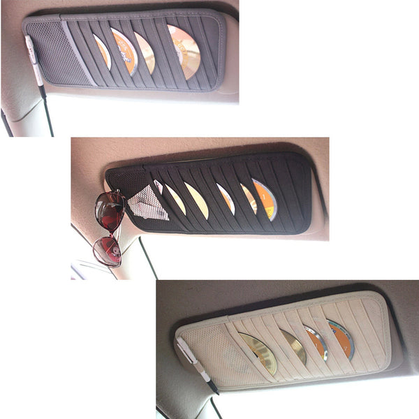 Car Auto Visor CD DVD Disk Card Case Holder Multifunctional Disks Holder - Justt Click
