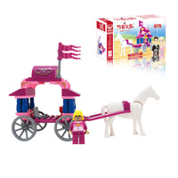 Princess Small Carriage Model Small Particles Building Blocks Educational Toys Assemble Toy Wholesale-Justt Click