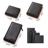 Genuine Leather Wallet Men Coin Purse Male Cuzdan Slim Walet Portomonee Small PORTFOLIO Mini Perse Vallet Money Bag For-Justt Click