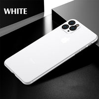 Luxury Shockproof 0.3MM Ultra Thin Case For IPhone 11 Pro X XS XR Max Matte TPU Cover For iphone 8 7 6 6s Plus Soft Case Cover-Justt Click