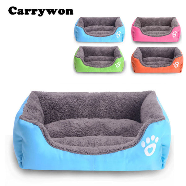 Fashion Sofa Shape Pet Dog Cushion Warm Cozy Bed House Winter Plush Puppy Pad Mat Big Size SH0105-Justt Click