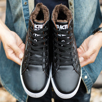 Men Boots Men winter boots Botas Hombre Fur Lace Up Warm Snow Boots For Men Fashion Winter-Justt Click