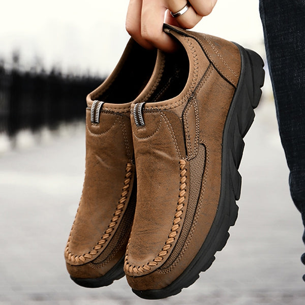 Men Casual Shoes Loafers Sneakers 2019 New Fashion Handmade Retro Leisure Loafers Shoes Zapatos Casuales Hombres Men Shoes-Justt Click