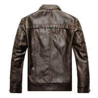 2017 leather motorcycle leather jacket men do the old washing upscale leather men-Justt Click