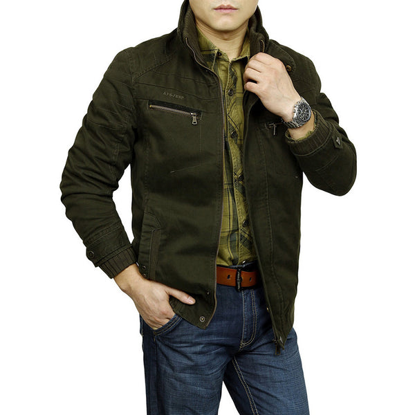 Men's Jacket Male Overcoat Casual Solid Jacket AFS JEEP Men's Jacket Men's Coat-Justt Click