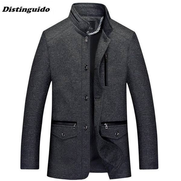 Men's Jacket Outerwear Autumn Men Coats Winter Male Autumn Overcoat MJK33-Justt Click