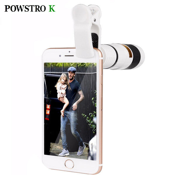 Universal Clip-on 8x Zoom Optical Telescope Camera Lens Universal for All Smartphone-Justt Click