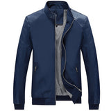 Mountainskin 5XL Spring New Men's PU Patchwork Jackets Casual Men's Thin Jackets Solid Slim Male Coats Brand Clothing,SA167-Justt Click