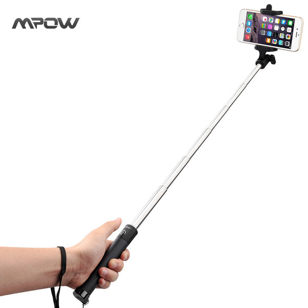 Mpow MBT8 Wireless Bluetooth Extendable Handheld Self-portrait Tripod MonopodSelfie Stick-Justt Click