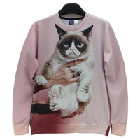 Animals printed Fashion 3d sweatshirt for men/women funny cat/panda/fox printed 3d hoodies Spring Autumn jacket-Justt Click