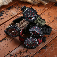 Multifunctional Survival Bracelet With Watch Compass-Justt Click