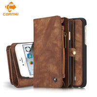 Multifunction Wallet Leather Case For IPhone 6 6s 6 Plus 7 7 Plus Pouch Phone Handbag Cover-Justt Click