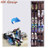 24 Pockets Non Woven Hanging Storage Bag Door Holder Home Shoes Organizing-Justt Click