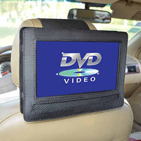 Car Headrest Mount for 9 Inch Swivel Flip Style Portable DVD Player Holder-Justt Click