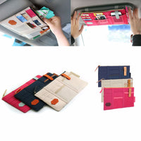 2017 Car Sun Visor Point Pocket Documents Organizer Pouch Hanging Bag CD Card Holder - Justt Click