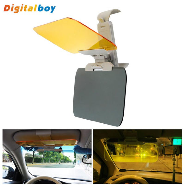 New Car Sun Visor HD Car Anti-Glare Dazzling Goggle Day Night Vision Driving Mirror UV Fold Flip Down-Justt Click