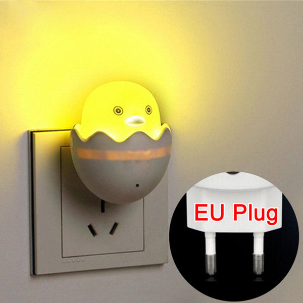 New EU Plug Duck AC110-220V Wall Socket Light-control Sensor LED Night Light Bedroom lamp-Justt Click